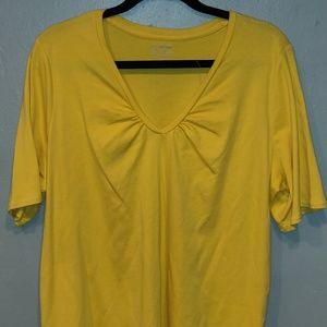 Lane Bryant Yellow Blouse Sz-22/24